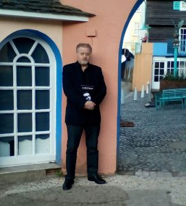 Brian Gorman at Number Six's home in Portmeirion