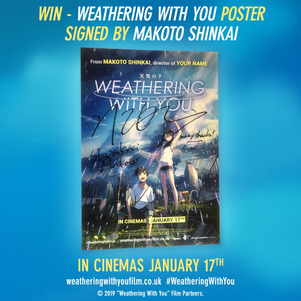 Ended Win A Weathering With You Poster Signed By Makoto Shinkai Starburst Magazine